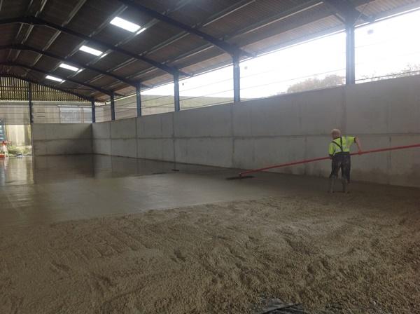 Shed concrete flooring